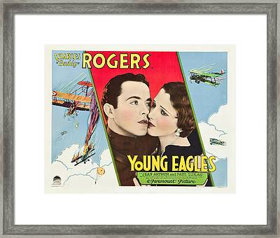 Young Eagles, Us Lobbycard, From Left Framed Print by Everett