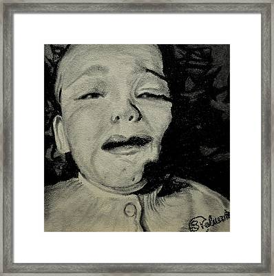 Young Emotions Framed Print by Stefanie M Valverde