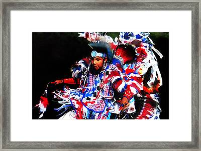 Young Fancy Dancer 2 Framed Print by Terril Heilman