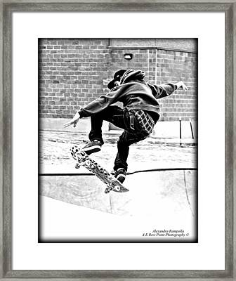 Young Fearlessness Framed Print by Alexandra  Rampolla