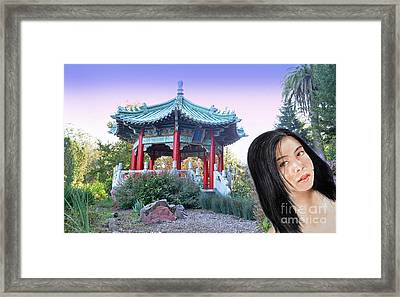 Young Filipina Beauty With A Mole Model Kaye Anne Toribio  Altered Version II Framed Print