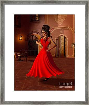 Young Flamenco Dancer Framed Print by Fairy Fantasies