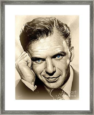 Young Frank Blue Eyes Framed Print