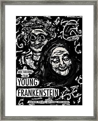 Young Frankenstein Poster Design Framed Print