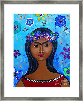 Young Frida Kahlo Framed Print