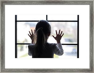 Young Girl At Window Framed Print by Bruce Stanfield
