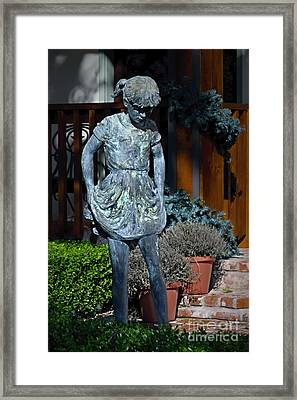 Young Girl In Bronze Framed Print by Norman Gabitzsch