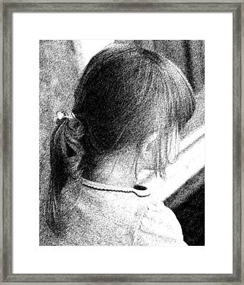 Young Girl Framed Print by Jennifer Muller