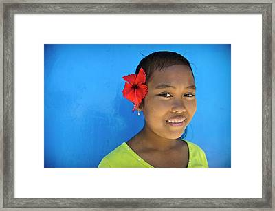 Young Girl Framed Print