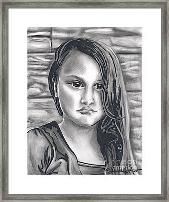Young Girl- Shan Peck Contest Framed Print
