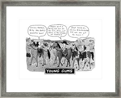 Young Gums Framed Print by Danny Shanahan