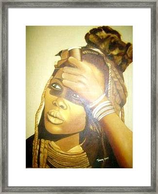 Young Himba Girl - Original Artwork Framed Print