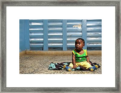 Young Hospital Patient Framed Print by Matthew Oldfield