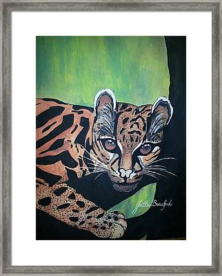 Framed Print featuring the painting Young In Wild by Joetta Beauford