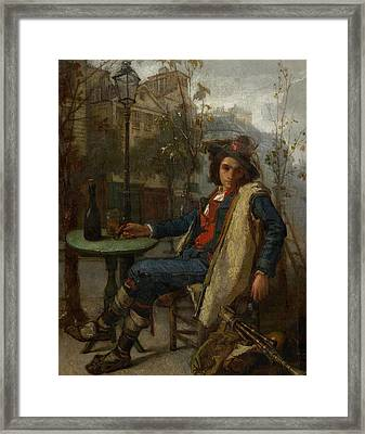 Young Italian Street Musician Framed Print