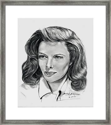 Young Katherine Hepburn Framed Print