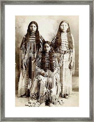 Young Kiowa Belles 1898 Framed Print by Unknown