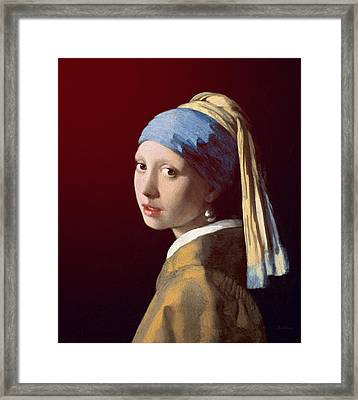 Framed Print featuring the painting Young Lady by David Bridburg