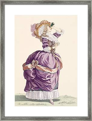 Young Lady, Engraved By Le Beau, Plate Framed Print by Francois Louis Joseph Watteau