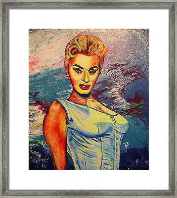 Framed Print featuring the painting Young Lady.sophia. by Viktor Lazarev
