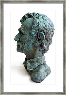 Young Lincoln -sculpture Framed Print by Derrick Higgins