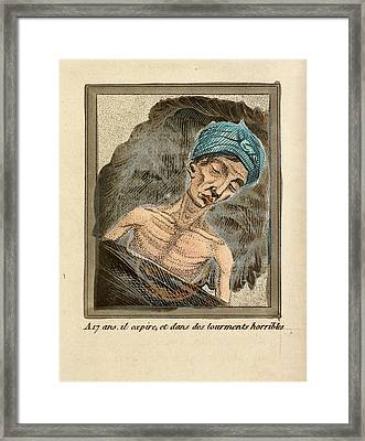 Young Man On His Death Bed Framed Print