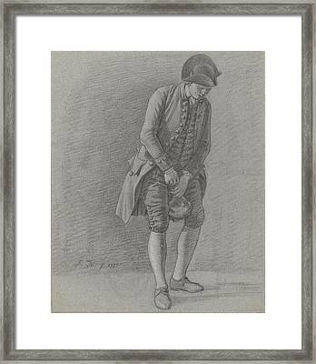 Young Man Pulls The Cork From A Bottle, Jordanus Hoorn Framed Print by Quint Lox