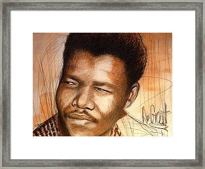 Young Mandela Framed Print