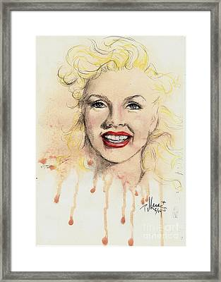 young Marilyn Framed Print by P J Lewis