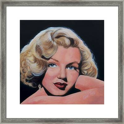 Young Marilyn Framed Print by Shirl Theis