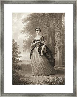 Young Martha Washington 1863 Framed Print by Padre Art