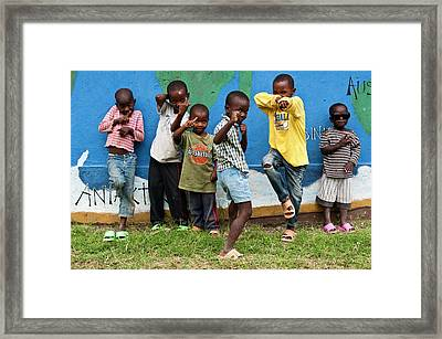 Young Masai Boys Framed Print