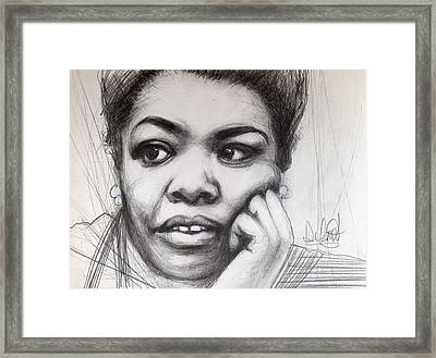 Young Maya Angelou Framed Print