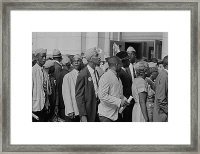 Young Men In Naacp Caps In Front Framed Print by Stocktrek Images