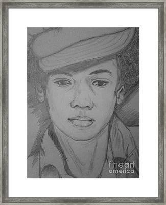 Young Michael Jackson Framed Print by Collin A Clarke