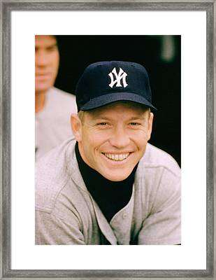 Mickey Mantle Smile Framed Print