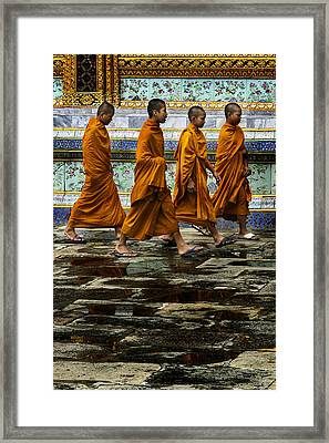 Framed Print featuring the photograph Young Monks by Rob Tullis