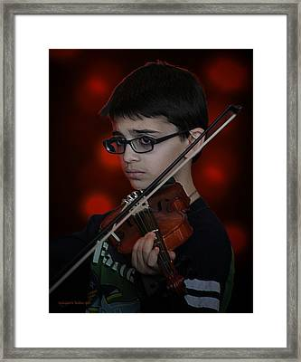 Young Musician Impression # 3 Framed Print by Aleksander Rotner