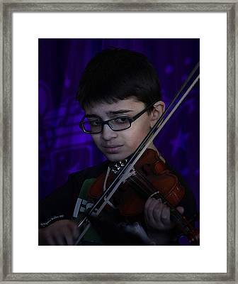 Young Musician Impression # 5 Framed Print by Aleksander Rotner