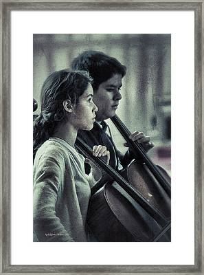 Young Musicians Impression # 38 Framed Print