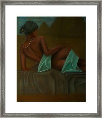 Young Nefertiti Framed Print by D Rogale