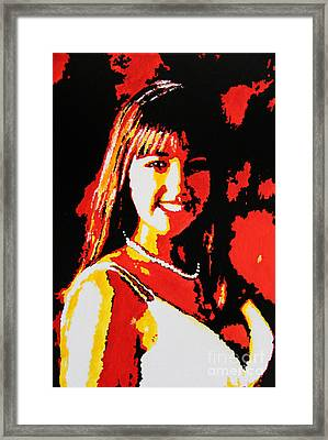 Young Opera Singer Framed Print by Ryszard Sleczka