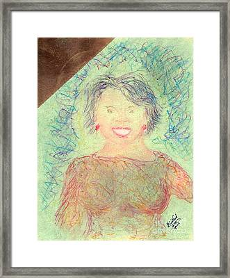 Framed Print featuring the painting Young Oprah At The Opera 1 Pop Natural by Richard W Linford