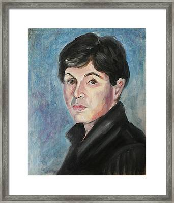 Young  Paul Mccartney Framed Print by Melinda Saminski
