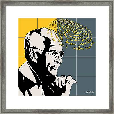 Psychiatrist Carl Gustav Jung Framed Print by Roby Marelly