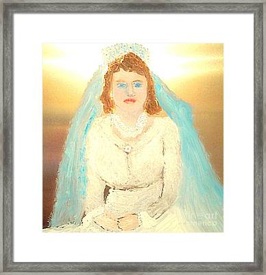 Young Queen Elizabeth 1 Framed Print by Richard W Linford