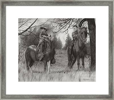 Young Rough Riders Framed Print