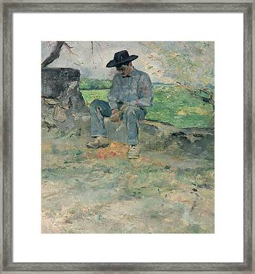 Young Routy At Celeyran Framed Print by Henri de Toulouse-Lautrec
