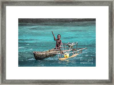 Young Seaman Framed Print by Jola Martysz