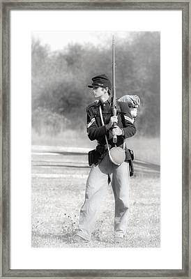 Young Soldier Framed Print